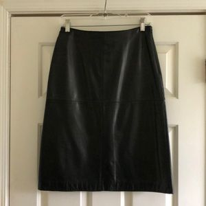 Ann Taylor leather skirt